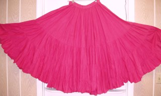 Full 100% Cotton Tiered Skirt 25 yards Pink